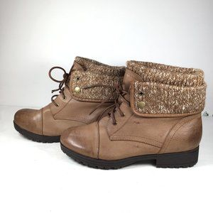 Hot Tomato Lace Up Boots Brown Size 9